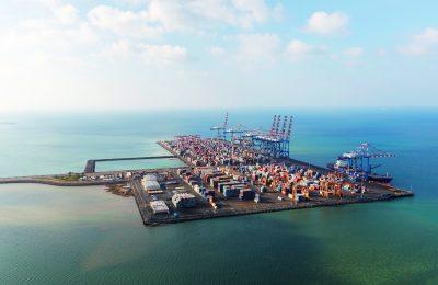 Djibouti, Nouveau port de containers de Doraleh. Photo Patrick Robert. Février 2018. Photo Patrick Robert. Droit réservés.